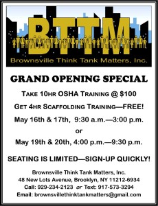 BTTM OSHA Training Flyer 100